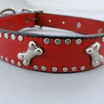 K9 Bone Collars - Fine Italian Leather with Nailheads