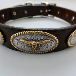 No Bull Brown Leather Dog Collars