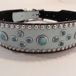 Turquoise Mideval Blue Dog Collars 1 1/2 Inch