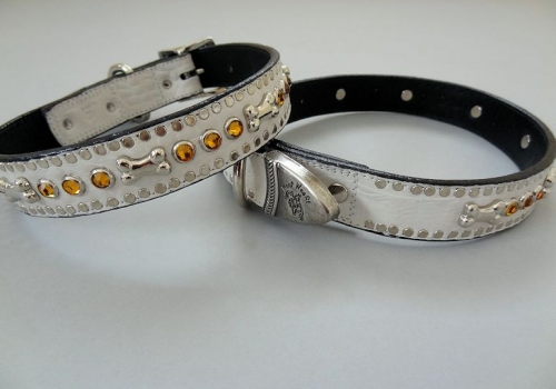 Bone and Crystal Collars