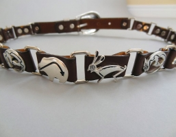 Funky Critters Brown Leather Belts
