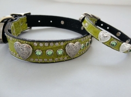 Heart and Crystal Collars
