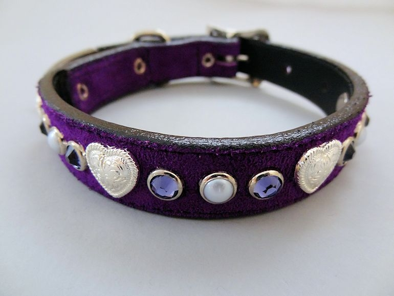 Heart and Pearl Collar with Swarovski Crystals