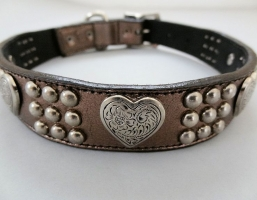 Heart and Heavy Pewter Metallic Collars
