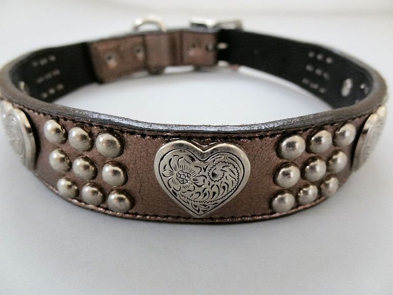 Heart and Heavy Metallic Collars