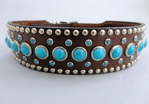 Jumbo Turquoise 1 1/2 Inch Collars
