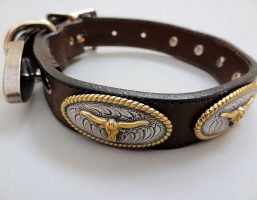 No Bull Brown Leather Collars