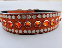 All Swarovski Rust Suede Collars