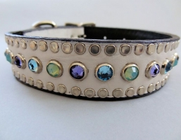 All Swarovski White Crocko Leather Collars