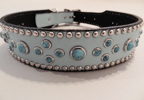Turquoise Mideval 1 1/2 Inch Collars