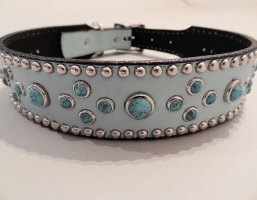 Turquoise Mideval Blue 1 1/2 Inch Collars