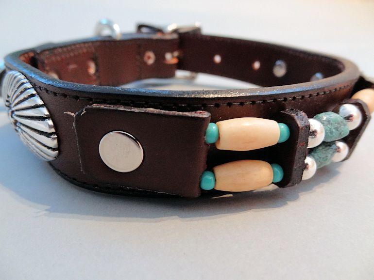 Southwest Leather Dog Collar