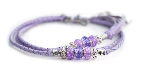 Kangaroo leather show lead in lavender 1