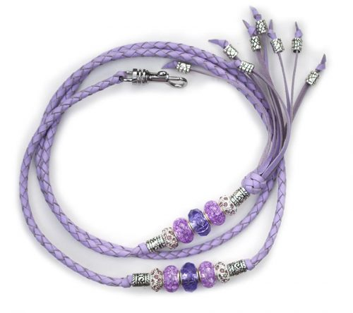 Kangaroo leather show lead in lavender 2