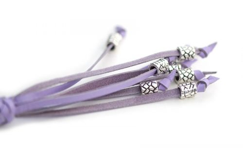 Kangaroo leather show lead in lavender 4
