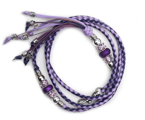 Kangaroo leather show lead in lavender & purple 2