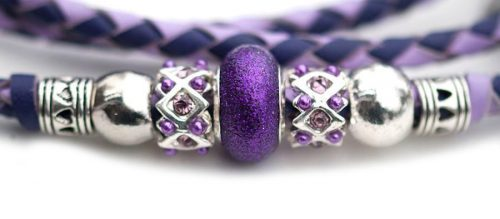 Kangaroo leather show lead in lavender & purple 3