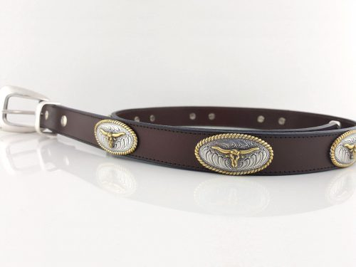 No Bull belt in brown Italian leather