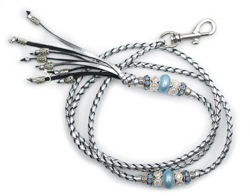 Kangaroo leather show lead in silver
