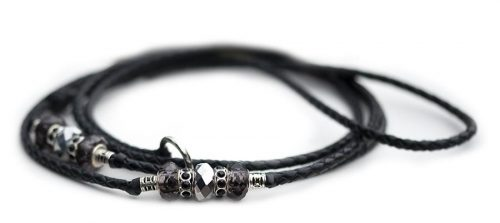 Kangaroo leather show lead in black 2