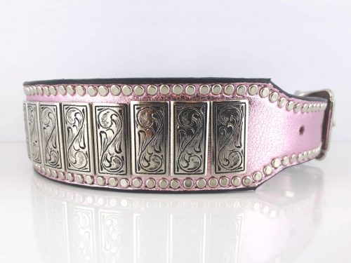 K9 Upright in pink metallic Italian leather