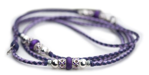 Kangaroo leather show lead purple lavender