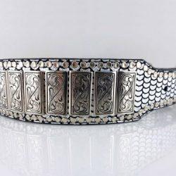 Dog collar K9 Upright in shiny Italian leather