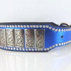 K9 Upright in royal blue metallic Italian leather